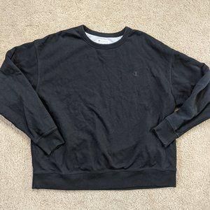 Champion Sweatshirt Crew Neck Long Sleeve Men's 2XL XXL Black